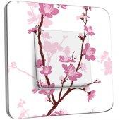 Interrupteur Décoré Simple Fleurs de Cerisier 1