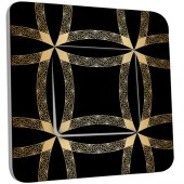 Interrupteur Décoré Simple Motif Oriental Black&Gold 1