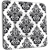 Interrupteur Décoré Simple Motif Oriental Black&White