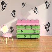 Kit Adesivo Murale 14   farfalle