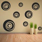 Kit Adesivo Murale 9   cerchi