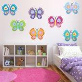 Kit Adesivo Murale bambini 12 farfalle