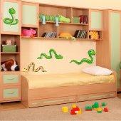 Kit Adesivo Murale bambini 4 serpenti