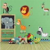 Kit Adesivo Murale bambini 6 animali