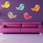 Kit Adesivo Murale bambini 6 uccelli