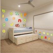 Kit Adesivo Murale bambini alfabeto e numeri