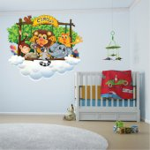 Kit Adesivo Murale bambini animali circo