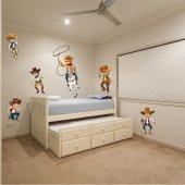 Kit Adesivo Murale bambini cowboy