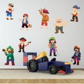 Kit Adesivo Murale bambini pirati