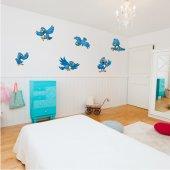 Kit Adesivo Murale bambini uccelli