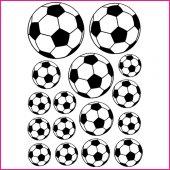 Kit Autocolante decorativo  16 bolas de futebol