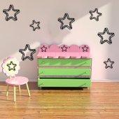 Kit Autocolante decorativo  6 estrelas