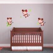 Kit Autocolante decorativo infantil 3 macacos