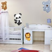 Kit Autocolante decorativo infantil 4 Animais