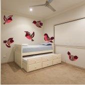 Kit Autocolante decorativo infantil 6 pássaro