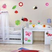 Kit Autocolante decorativo infantil insetos