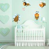 Autocollant Stickers enfant kit 4 abeilles