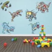 Autocollant Stickers enfant kit 6 dinosaures