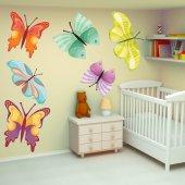 Autocollant Stickers enfant kit 9 papillons