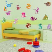 Autocollant Stickers enfant kit 16 bebe dinosaure