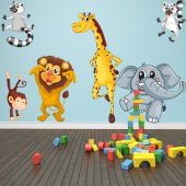 Autocollant Stickers enfant kit 9 animaux