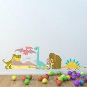 Autocollant Stickers enfant 5 dinosaures