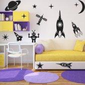 Kit Vinilo decorativo espacio planetas