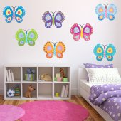 Kit Vinilo decorativo infantil 12 mariposas