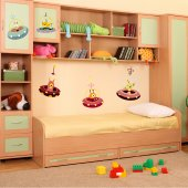 Kit Vinilo decorativo infantil 6 cohetes