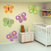 Kit Vinilo decorativo infantil 9 mariposas