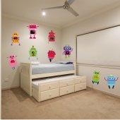 Kit Vinilo decorativo infantil 9 robots
