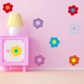 Kit Vinilo decorativo infantil flores