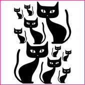 Komplet 10 naklejek - Koty