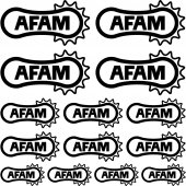 Komplet naklejek - Afam