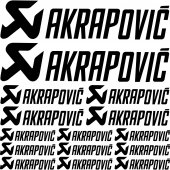 Komplet naklejek - Akrapovic