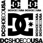 Komplet naklejek - Dcshoeco USA