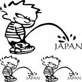 Komplet  naklejek - Japan