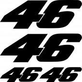 Komplet  naklejek - Moto 46