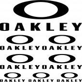Komplet  naklejek - Oakley