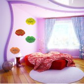 Lips Set Wall Stickers