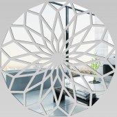 Miroir Acrylique Plexiglass Mosaïque en Fleur
