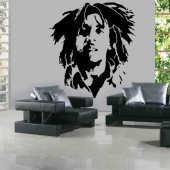 Naklejka ścienna - Bob Marley