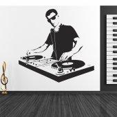 Naklejka ścienna - DJ