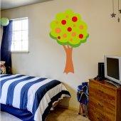 Naklejka ścienna Dla Dzieci - Drzewo i Owoce