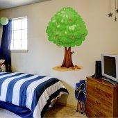 Naklejka ścienna Dla Dzieci - Drzewo wiśniowe