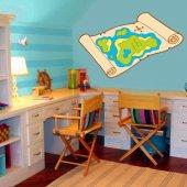 Naklejka ścienna Dla Dzieci - Mapa skarbów