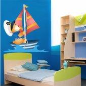 Naklejka ścienna Dla Dzieci - Niedźwiadek Marynarz