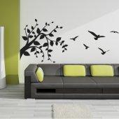 Naklejka ścienna - Gałąź i Ptaki