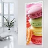 Naklejka na Drzwi - Ciastka Macarons