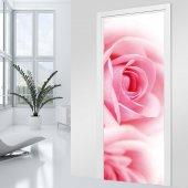 Naklejka na Drzwi - Róża Zoom